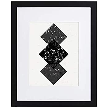 Amazoncom 16x20 Black Picture Frame Matted For 11x14 Frames By