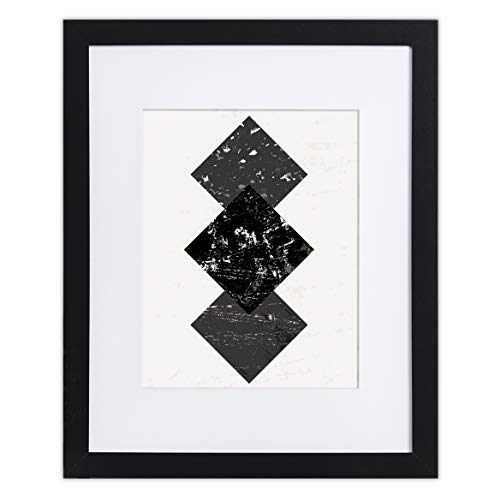 """16"""" x 20"""" Photo Frame - Matted for 11x14, Black Wood Frames by EcoHome"""
