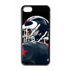 NFL iPhone 5c Black Cell Phone Case Houston Texans PNXTWKHD0200 NFL Phone Case Cover DIY Unique