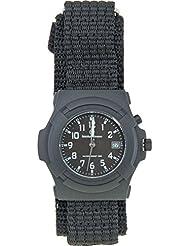 Smith & Wesson Mens SWW-11B GLOW Lawman Black Nylon Strap Watch