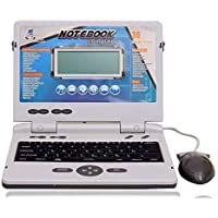 kanku toys 30 Fun Activities & Games Fun Laptop Notebook Computer Toy for Kids Educational Kids 30 Fun Activities with Music Keyboard Blue-Grey_Include Mouse