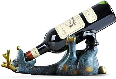 Estante De Vino De Resina Europea, Decoraciones Artesanales, Estante De Almacenamiento De Vino De Ciervo, Estante De Almacenamiento De Muñeca, Barra De Cocina, Decoración De Vinotecas Copas De Vino