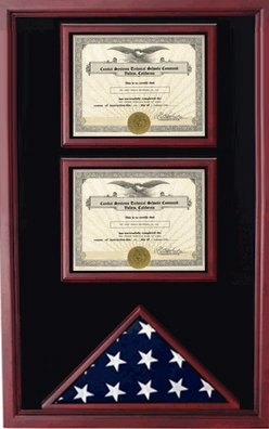 Amazoncom American Flag And 2 Certificates Cases Shadow Box