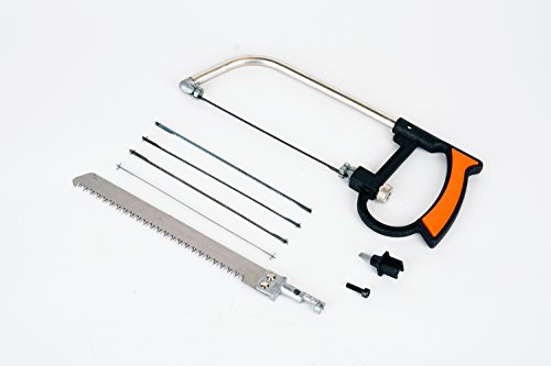 Pvc Pipe Saw (Mini suit handsaw JCT 8pc Magic Universal Hand Saw Kit Toolbox Of Multi Blades Set Works As Hacksaw Coping Bow Jab Rip Pruning Chain Handsaws A Cutter Suitable To Cut Wood PVC Pipes Glass)