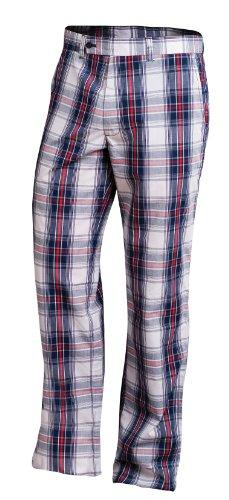 Fila Golf Men's Napoli Plaid Pant Navy Plaid, (Plaid Golf Pants)
