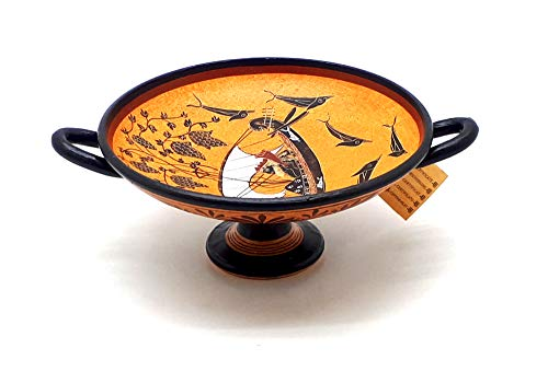 God Dionysus Cup Ancient Greek Vase Pottery Kylix Copy Museum -