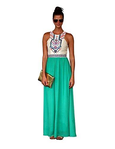 green georgette dress - 8