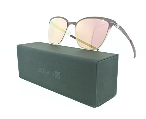 Brand New Authentic ic! berlin Sunglasses Birgit D. Aviator Metal Frames (Candy Fade, Rose Red - Berlin Glasses