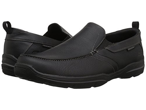 [SKECHERS(スケッチャーズ)] メンズスニーカー?ランニングシューズ?靴 Relaxed Fit Harper - Forde Black Leather 13 (31cm) 3E - Extra Wide