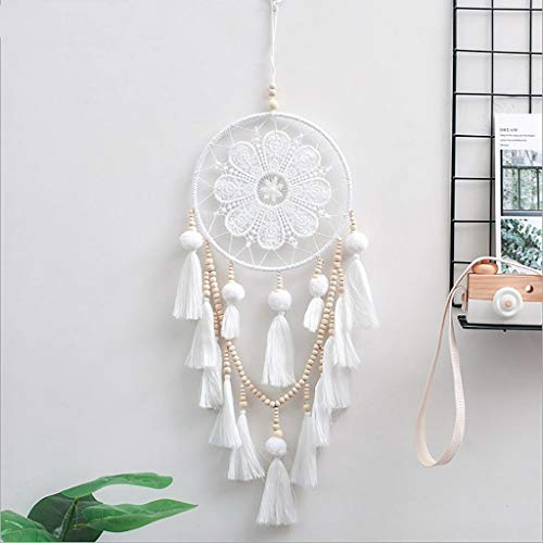 JIDSFIE 50cm Dream Catcher, Indian Style Hand-Woven, for Bedroom Window Wall Hanging, Dream Net Pendant Car Ornaments Interior Supplies, with Feathers Wind Chime Hanging Craft