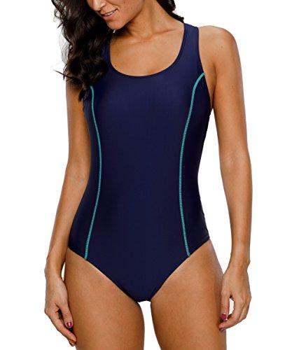 Per Dunkelblau 2 Nuoto Costumi Costume Da Bagno Donna Intero Sportivo Charmleaks 4x1B0qSzw