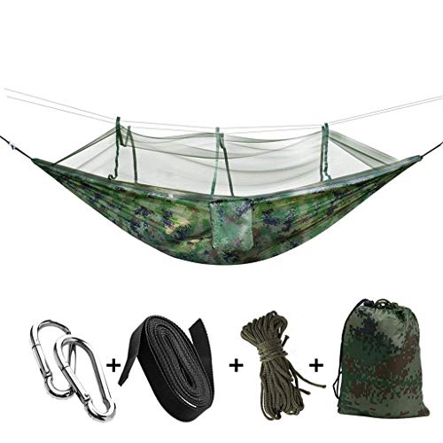 Formemory Large Camping Hammock with Mosquito Net,440 Pounds Capacity, Suit for 2 Persons,Portable & Foldable Hammock Tent Tree Hammocks for Outdoor Backpacking Camping Trip Hiking/Indoor Garden Yard by Formemory