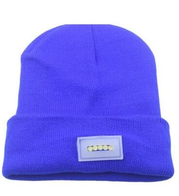 b1dc342ddc3470 Ultra Bright 5 LED Hands Free Unisex Lighted Beanie Power Stocking Cap/Hat  - 12000MCD