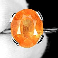 925 Silver Cocktail Ring 3.5ct Orange Sapphire Wedding Engagement Sz6-10 by Siam panva (6)
