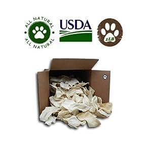 Natural Rawhide Chips For Dogs Bulk Rawhide Dog Treats (1Lb)