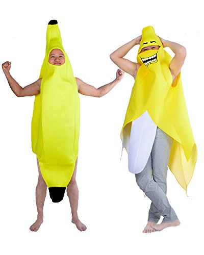 Chiquita Banana Woman Halloween Costume (Aifang Halloween Christmas Banana Costume Suit Lightweight Fruit Banana Cosplay for Adult Style 2)