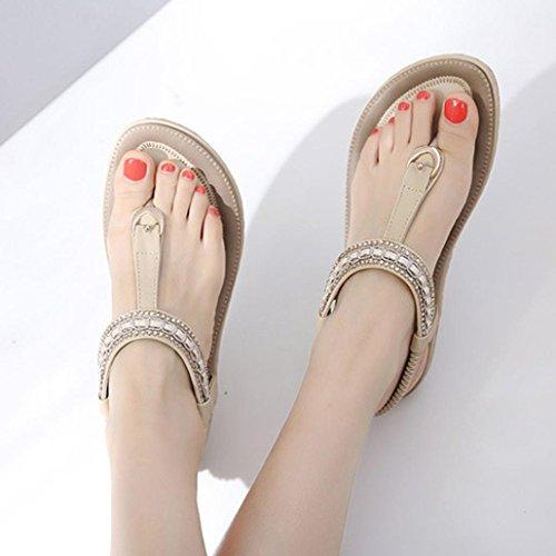 De Zapatillas Sandalias Verano Imitaci OHQ Diamantes Sandalias De De Mujer wFxvwqYO1
