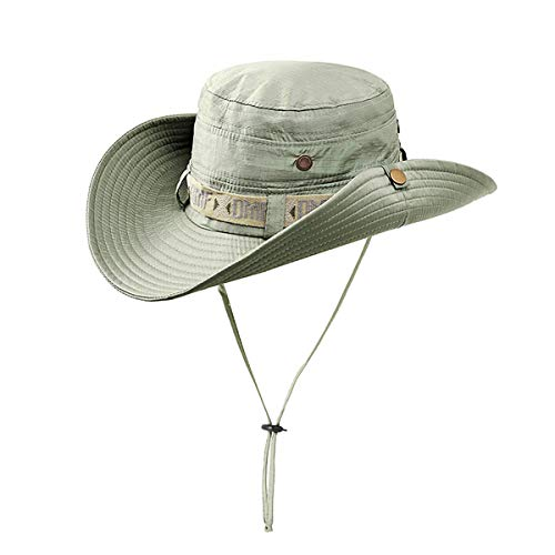(Fonshow Jungle Camo Boonie Sun Hat Snap Wide Brim Caps Outdoor Fishing Hunting Safari Cap (10))
