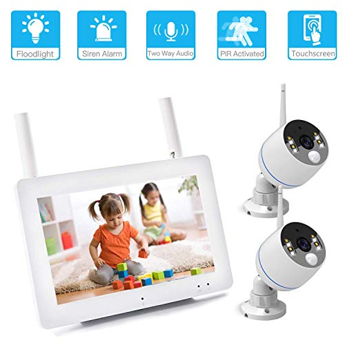 YESKAMO [Floodlight & Touchscreen] Wireless Home Security Camera Systems