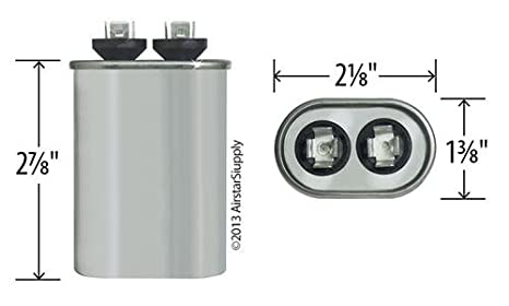 2 Pack Goodman B945672 125 Uf Mfd 370 440 Vac Amrad. 97f9003 125 Uf Mfd 370 Volt Vac Ge Oval Run Capacitor Upgrade Amazon Industrial Scientific. Wiring. 97f9003 Capacitor Wire Diagram At Scoala.co
