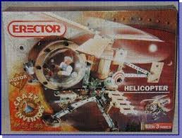 Erector Set 7650 Helicopter w/ 3v Motor (Erector Helicopter)