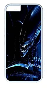 ACESR Alien Scary iPhone 6 Hard Shell Case Polycarbonate Plastics Awesome Case for Apple iPhone 6(4.7 inch) White