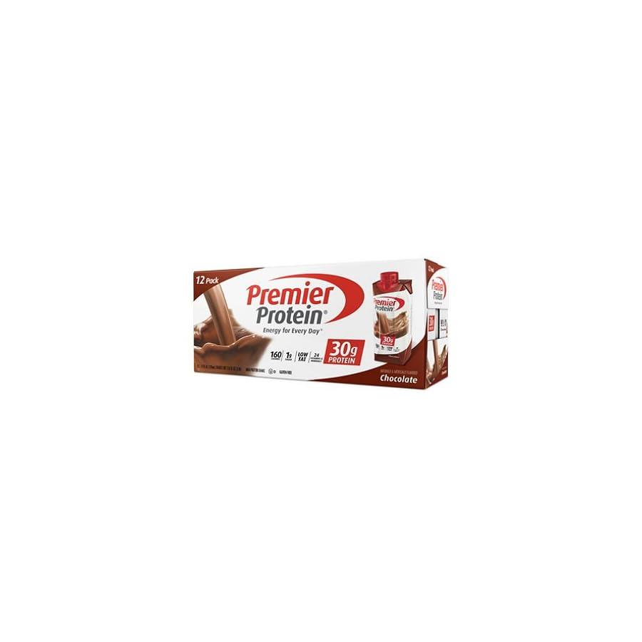 Premier Protein 30g Protein Shake (Pack of 4 x 11 fl oz), Chocolate, 160 calories, 1g Sugar, Low Fat, 24 Vitamins & Minerals, 5g Carbs