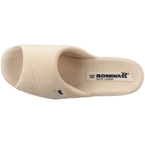 Romika Paris 63055 58 100 - Zapatillas de casa de tela para mujer Beige