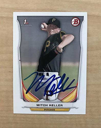 MITCH KELLER PITTSBURGH PIRATES SIGNED AUTOGRAPHED 2014 BOWMAN CARD #DP69 W/COA