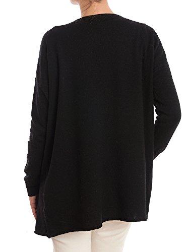 Dalle Cardigan Nero misto asimmetrico Donna Piane in Cashmere cashmere wZqwxP6Fn