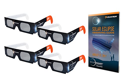 Celestron Iso Certified  2017 North American Total Solar Eclipse Eclipsmart Solar Shades Observing Kit  Black  44405