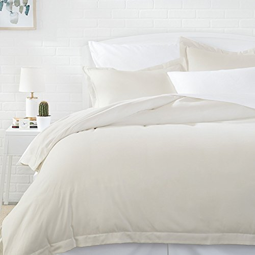 AmazonBasics Microfiber Comforter Duvet Cover and Pillow Sham Set - Full or Queen, ()