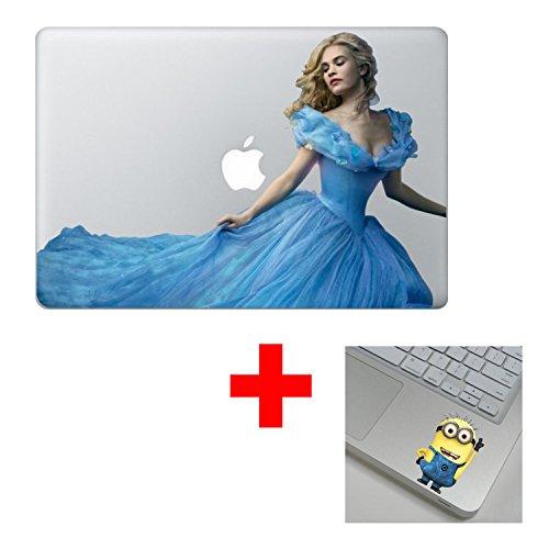 Disney Cinderella Colorful 13 inch Air Pro Cool Design Colored Black White Macbook Sticker Decal Vinyl Skin Cover Laptop -Buy 2 Get 1 - Sunglasses Cinderella