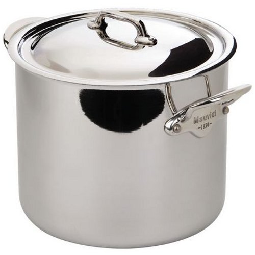 Mauviel M'Cook Ferretic Stainless Steel Stock Pot, 9.1 Quart by Mauviel