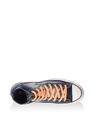 CONVERSE LIMITED EDITION NAVY DENIM NEON ORANGE MIS.37.5