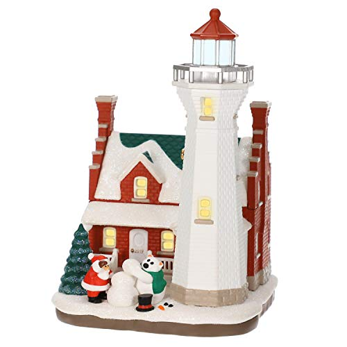 Holiday Magic Ornaments - Hallmark Keepsake Christmas 2019 Year Dated Holiday Lighthouse Ornament with Light,