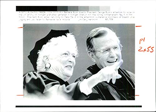 Vintage photo of George H. W. Bush and Ann -