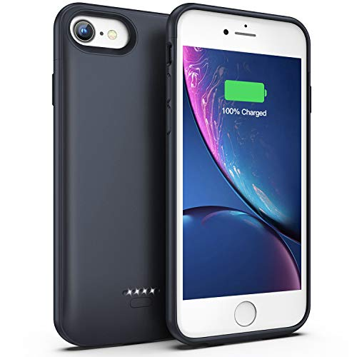 Battery Case for iPhone 7/8, 4000mAh Portable Protective Charging Case Compatible with iPhone 7/8 (4.7 inch) Rechargeable Extended Battery Charger Case (Gray)