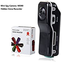 Bysameyee Spy Hidden Camera Portable Camcorder Video Recording Nanny Cam for Security with Motion Detection – Black Mini DV DVR