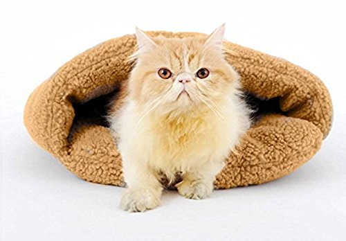 Pesp Luxury Warm Fleece Lambs Wool Slippers Pet Dog Cat Sleeping Bag Bed Nest Playhouse Indoor Kennel Kitten Thermal Hiding For Sale