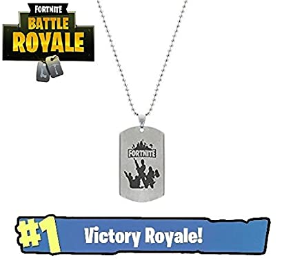 amazon com brand new stainless steel fortnite logo necklace toys