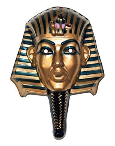 (Gold King TUT Egyptian Pharaoh Costume Mask Plastic Accessory)