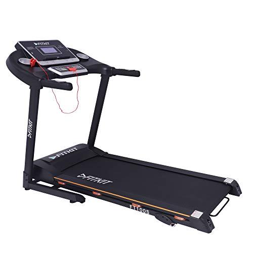 Fitkit FT100S 1.75HP (3.25 HP Peak) Motorized Treadmill (Free Installation)