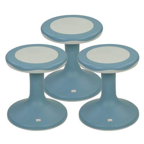 Kaplan Early Learning Company 15'' K'Motion Stool - Gray-Blue - Set of 3