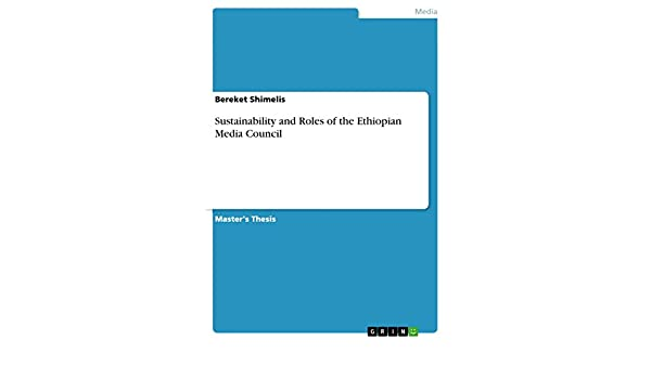 Amazon com: Sustainability and Roles of the Ethiopian Media