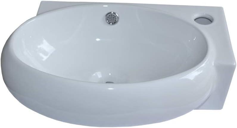 1 Lavabo Céramique Ovale Montage Mural lavabos lavabo mur 40x28x12