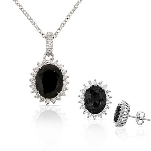 925 Sterling Silver Black Whit