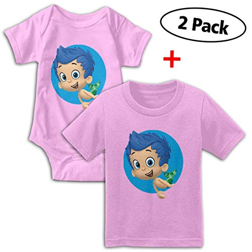 Bubble Guppies Babys Boy's & Girl's Short Sleeve Bodysuit Baby Onesie And Tee ()