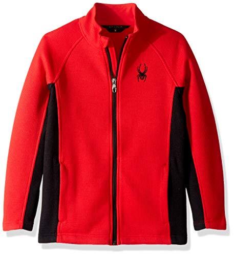 Spyder Boys' Constant Full Zip Stryke Jacket, Red/Black/Black, Small