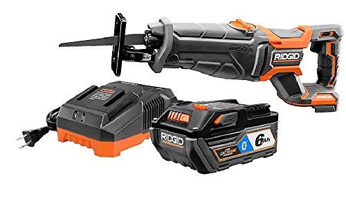 RIDGID R8643SB 18V Octane Brushless Cordless Reciprocating Saw Kit w/ 6Ah Battery ()